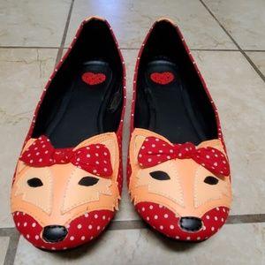 TUK fox slip on flats